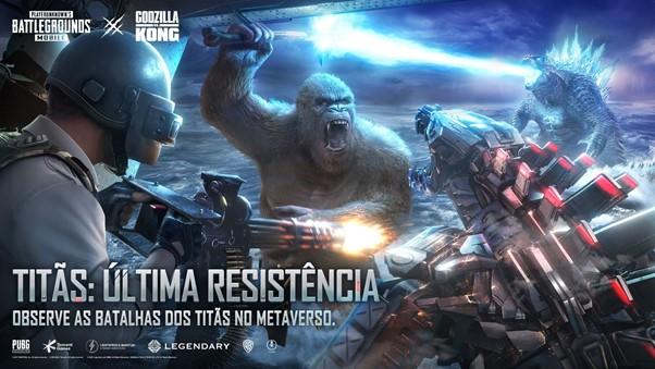 Novo capítulo de Godzilla VS Kong disponível em PUBG MOBILE