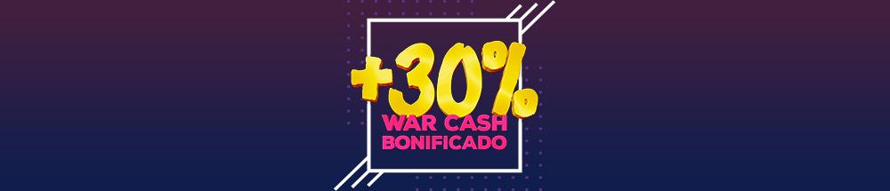 promoção de war cash bonificado