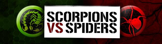 Participe do Concurso do Grito de Guerra Scorpions vs. Spiders