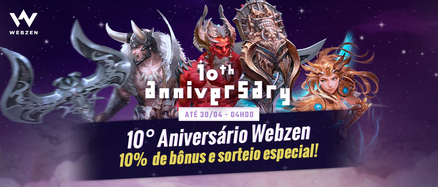 promoção de aniversário da webzen