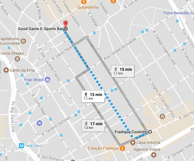 mapa para chegar no perfect bar