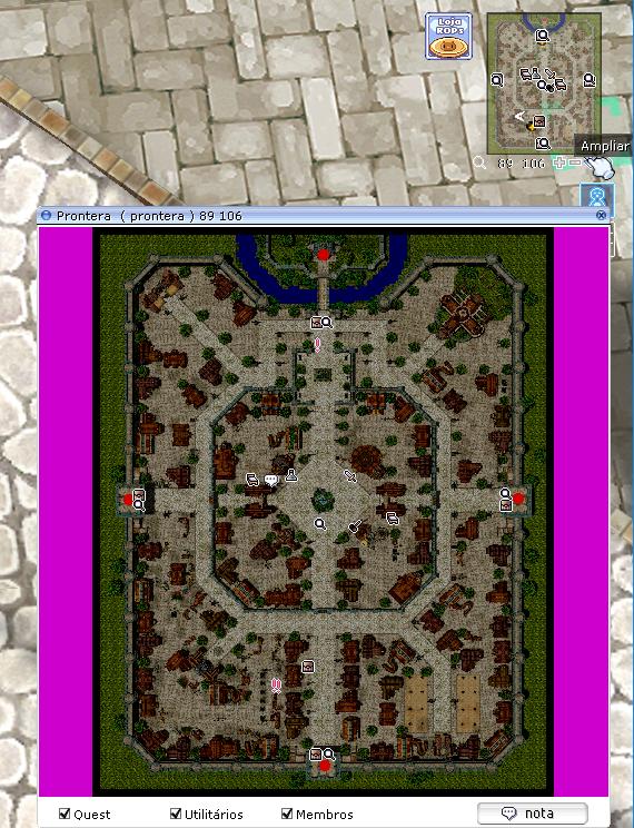 Zoom no mini mapa