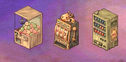 as três máquinas do evento de troca