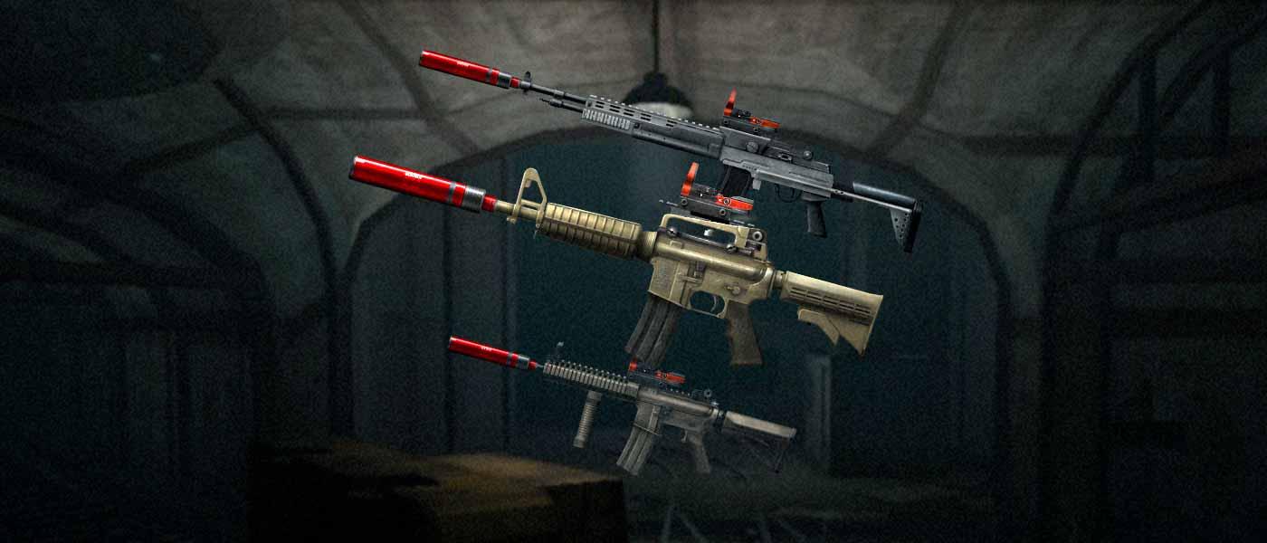 Armas modificadas com até 2 Estrelas de Ouro!