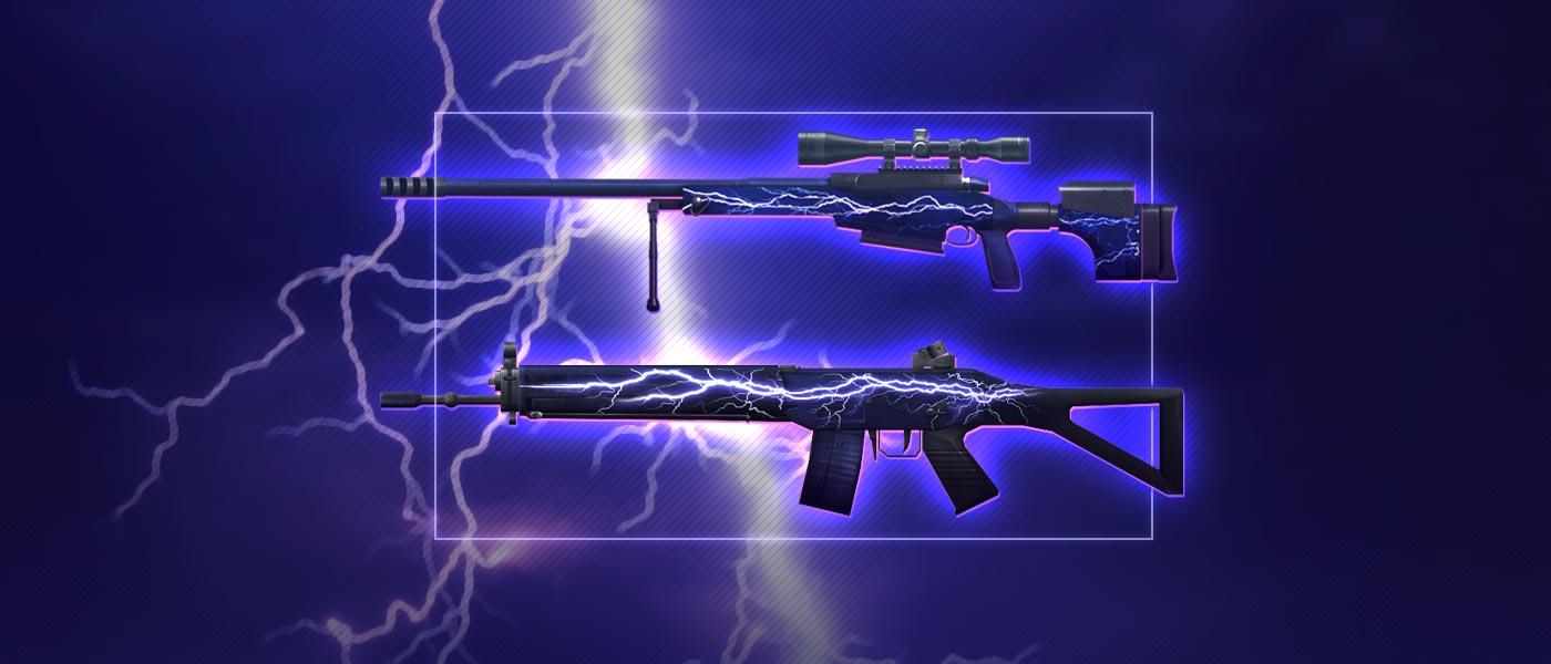 Esbanje um poder trovejante com as Armas Lightning!