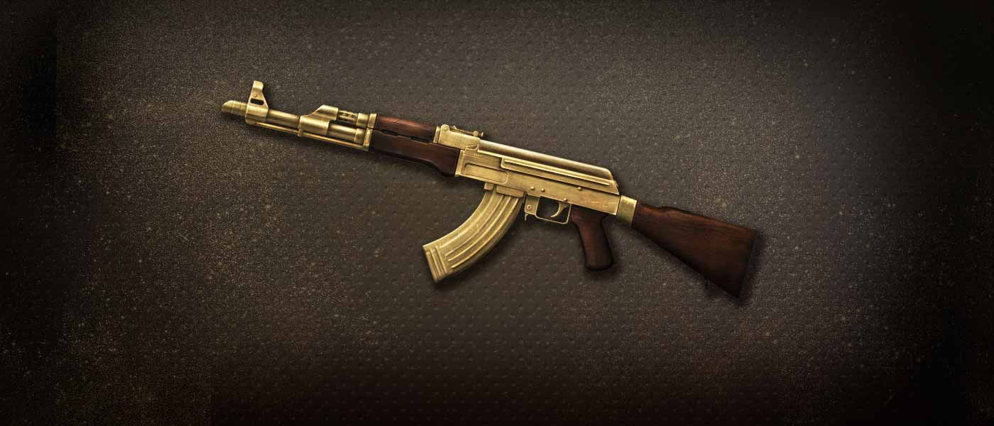 Vem garantir o brilho da (ACE) AK-47 Gold-Plated Permanente