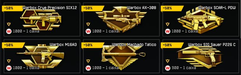 warboxes com desconto